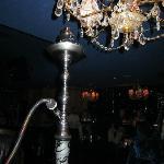 hookah and chandelier