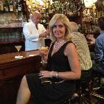 Wife enjoying a Sidecar, Harry's New York Bar