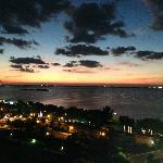 beautiful sunset towards the lagoon side