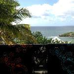 Sur la terrasse après la plage