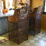 Big chairs facing the kitchen. A fave spot.