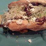 Portobello Mushroom, Artichoke Heart and Goat Cheese on French Hoagie