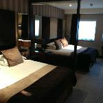 Our Double Double room, incredibly spacious & comfortable