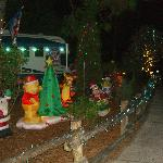 One of the campsites decorated for Christmas
