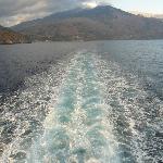 Leaving Sougia in its wake