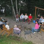 outdoor gathering area aroung fire-pit Diamond Willow