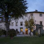 Photo of the Villa as evening came.
