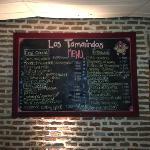 Los Tamarindos menu