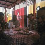eating with a few friends I met at Jerries.