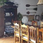 La sala da pranzo della Posada Modiva