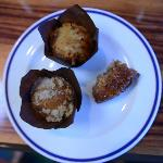 Two kind of muffins and monkey bread delicious