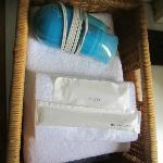 towels and toiletries