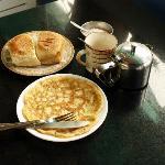 Breakfast, with goan bread