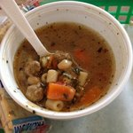 Italian Wedding Soup - pic doesn't do it justice. GREAT soup!! Nice kick to it and some of the m