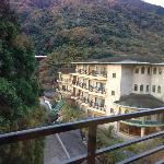 view from onsen towards the hotel