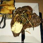 T Bone Steak and Homemade Chips