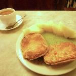 Pie and mash and a cuppa