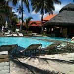 Parte da área da piscina........
