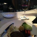 steak dinner at the bar