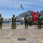 Statues right next to hotel (inc cola crate character)
