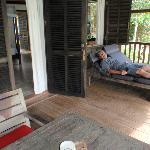 Great veranda to relax on