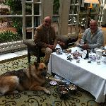 Pinkies and Paws, High Tea with our dog.