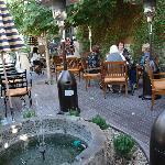 Cafe garden area