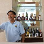 One of two beachside bars and friendly staff (Roy!)