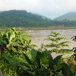 View from Mekong Riverview Hotel breakfast area