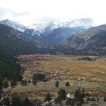 View of adjacent Rocky Mountain National Park.