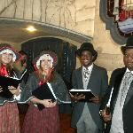 Carolers in the hotel