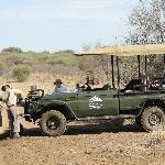 "Break in the bush during game drive with Docter and Samuel ""The Hawk-eye""...;)"