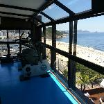 gym overlooking copacabana. what a good way to get fit!
