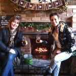 cosy lunch by the fire