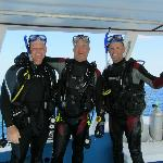 My Friends Mark and Marvin...me in the middle diving with IB