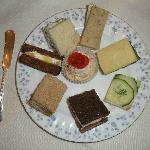 Tea sandwiches at Teaberry's