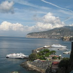 The Bay of Naples view, 1 minute from apartments.