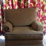 armchair in lounge