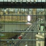 vista della torre da dentro l'albergo