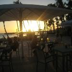 sunset by the bar