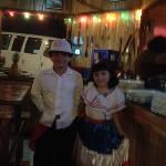 Pareja de baile tipico de Costa Rica