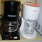 Coffee maker and kettle. Nice to have both.
