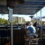 The deck bar area