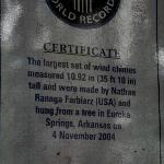 World record certification