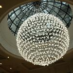 Fabulous chandelier in lobby