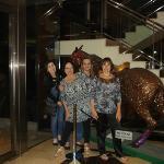 Foto en el hall del hotel