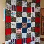Quilt in billiards room