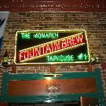 Cool sign of Fountain Brew beer