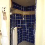 Spacious standalone shower (Garden View Room)