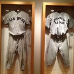 Some of the baseball memorabilia in the hotel
